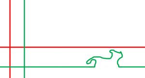 7 перпендикулярных красных линий